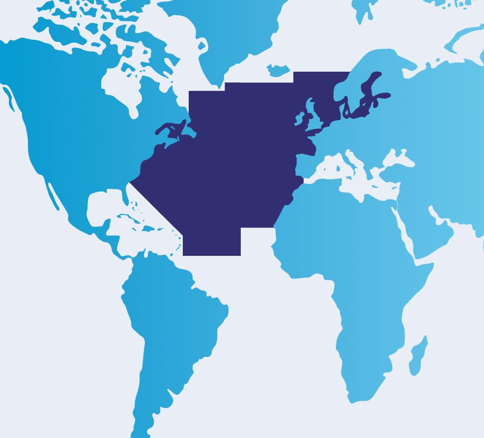 IMMAs map of North Atlantic