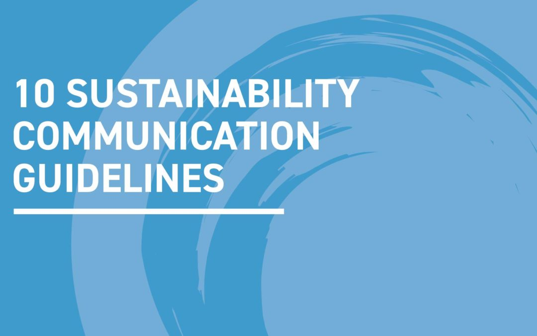 Sustainability communication guidelines for the yachting sector